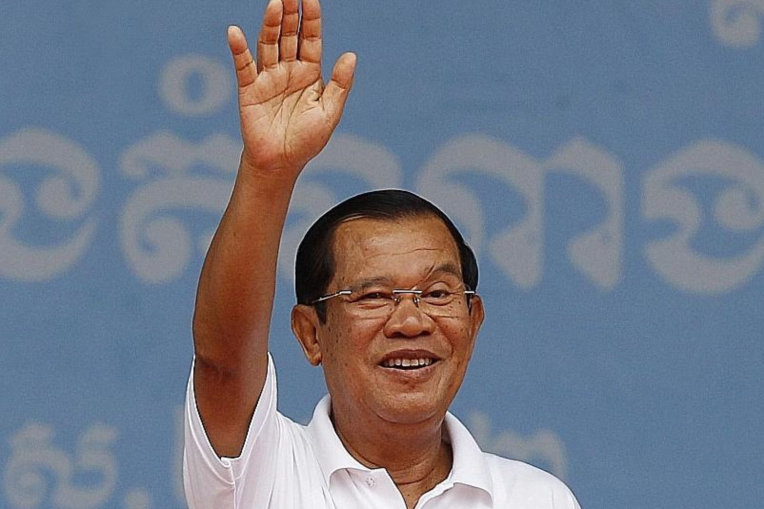 Strongman Hun Sen has promised to ensure peace and economic growth.