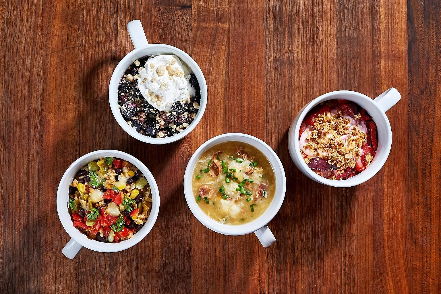 Try no-fuss cooking for one person with microwave mug recipes.