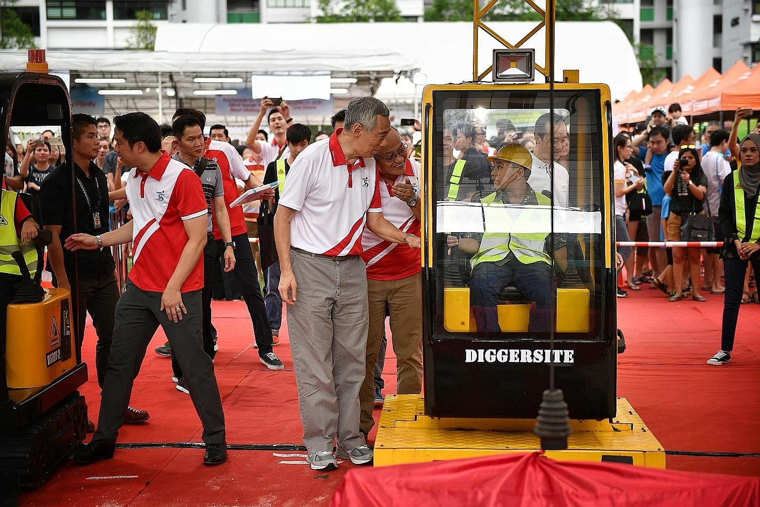 Prime Minister Lee Hsien Loong at the groundbreaking event for a new community hub that is set to open in Sengkang West in 2020.