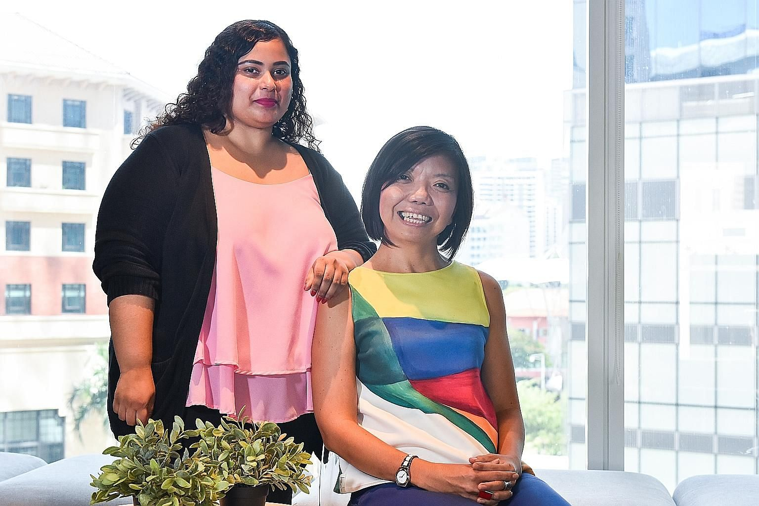 Mental health advocate Nawira Baig, a partner associate at Hush Teabar who has had bipolar disorder since her teens, says she can open up to her boss, Ms Anthea Ong.