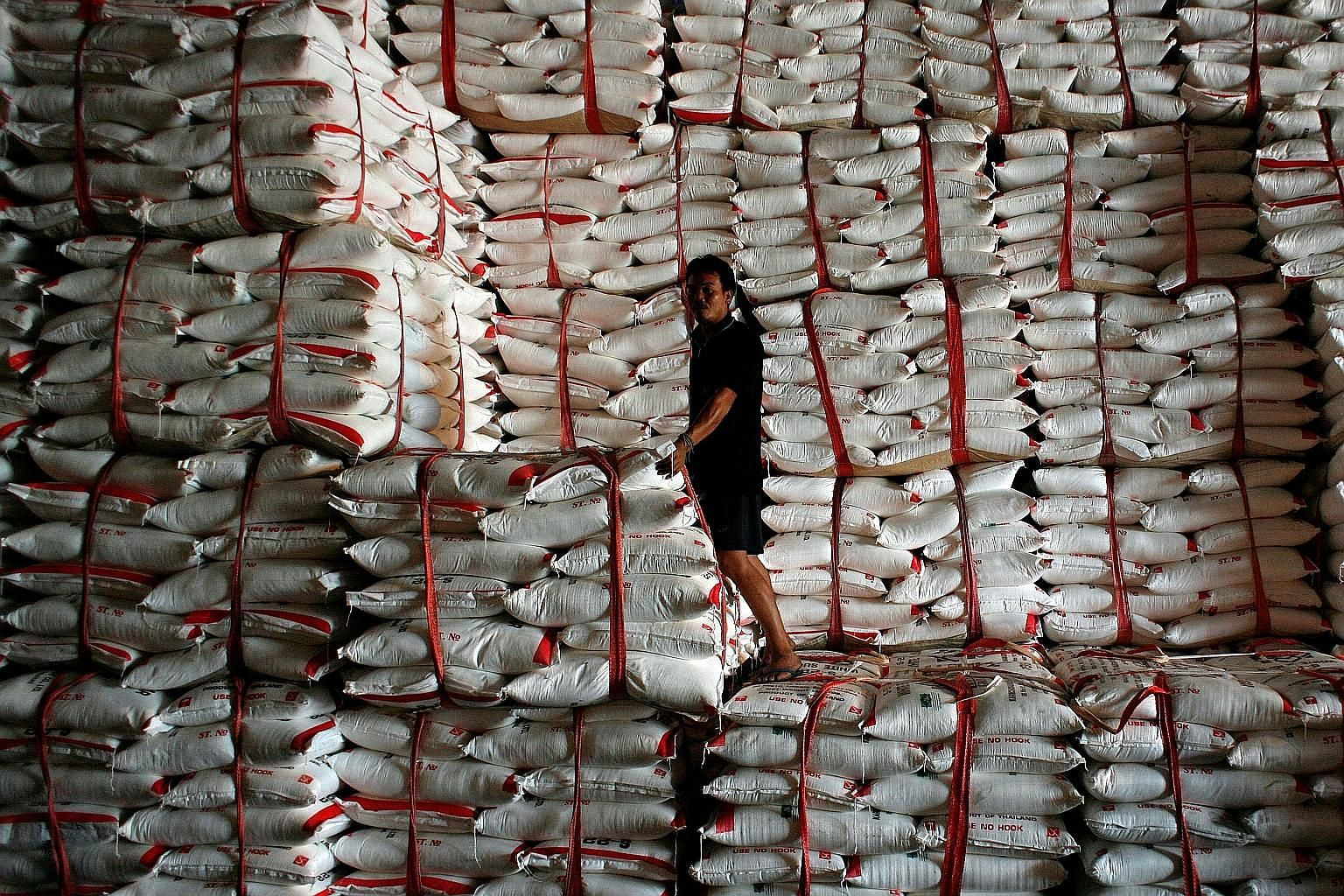 World stockpiles of sugar are set to swell to the highest ever this season and stay near the record next year, according to the US Department of Agriculture.
