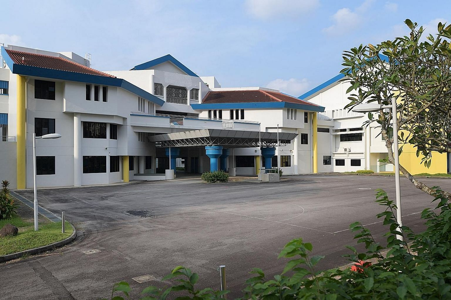 The empty Bishan Park Secondary School, which was vacated earlier this year. Such properties could one day be used to house the elderly.