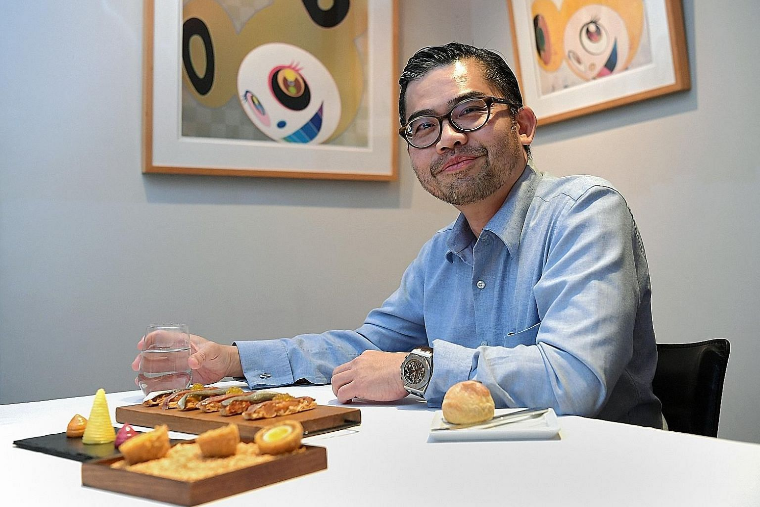 Consultant surgeon Melvin Look at one-Michelin-starred Iggy's at the Hilton Singapore, one of his favourite restaurants.