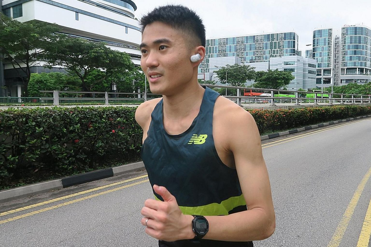 For Mok Ying Ren, who run-commutes along noisy high-traffic routes, listening to music and audiobooks on his noise-cancelling headphones helps him to focus and enjoy the run.
