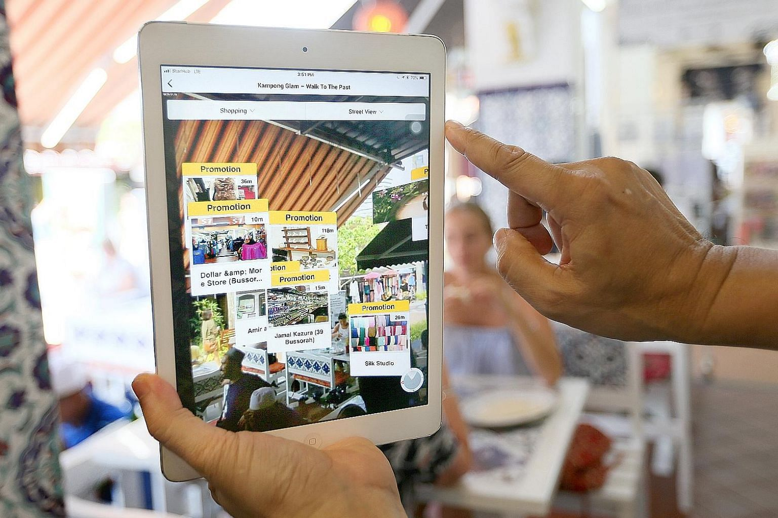 The Locomole app uses augmented reality and location-based technology to help users navigate the area and access deals. Other digital initiatives include an integrated point-of-sale system for merchants.