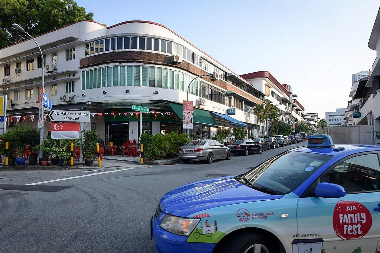Ting Heng Seafood Restaurant in Tiong Bahru is among the businesses that will benefit from the URA rezoning of residential units in the area. The change to commercial use becomes official next month.