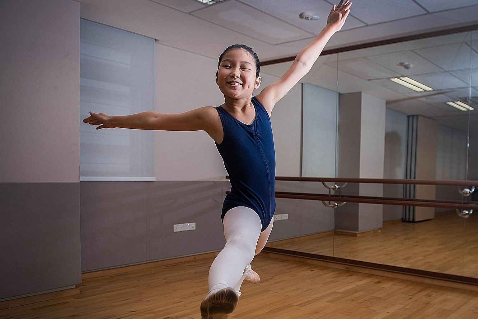 Loveval Choo took up ballet at the age of six but was forced to stop after half a year because of financial difficulties. She received the Arts Development Award last year from The School of the Arts, which has allowed her to resume weekly ballet cla