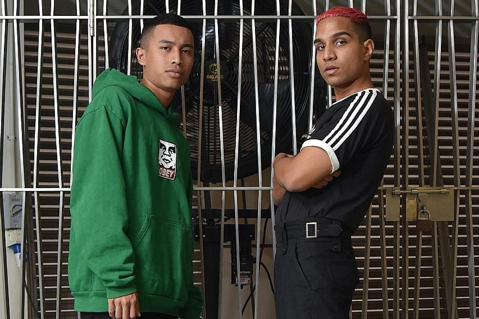 Singaporean rappers Fariz Jabba (far left) and Yung Raja are among the first rappers to perform at Baybeats.