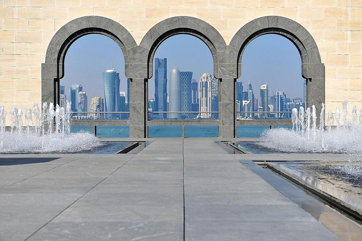 Qatar Airways pilot Daisy Carolyn Tjong Yu Pei moved to Doha in April last year for work. The Museum of Islamic Art has a park and a cafe with an unobstructed view of Doha's skyline.