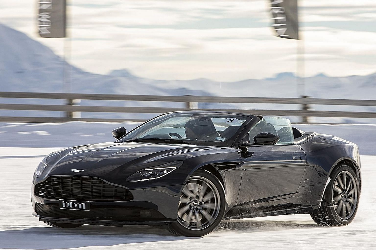 The Aston Martin DB11 Volante has 503bhp and 675Nm of twisting force on tap.