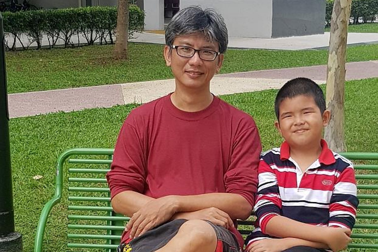 Ten-year-old Lee Jue Ming (left, with his father Lee Kwong Luen) has a type of haemophilia, a rare disorder where one's blood does not clot normally and can have life-threatening complications.