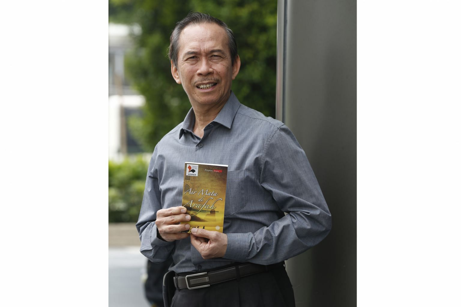 Author Peter Augustine Goh won the Singapore Literature Prize in 2016 for his short story collection Air Mata Di Arafah (Tears In Arafah).