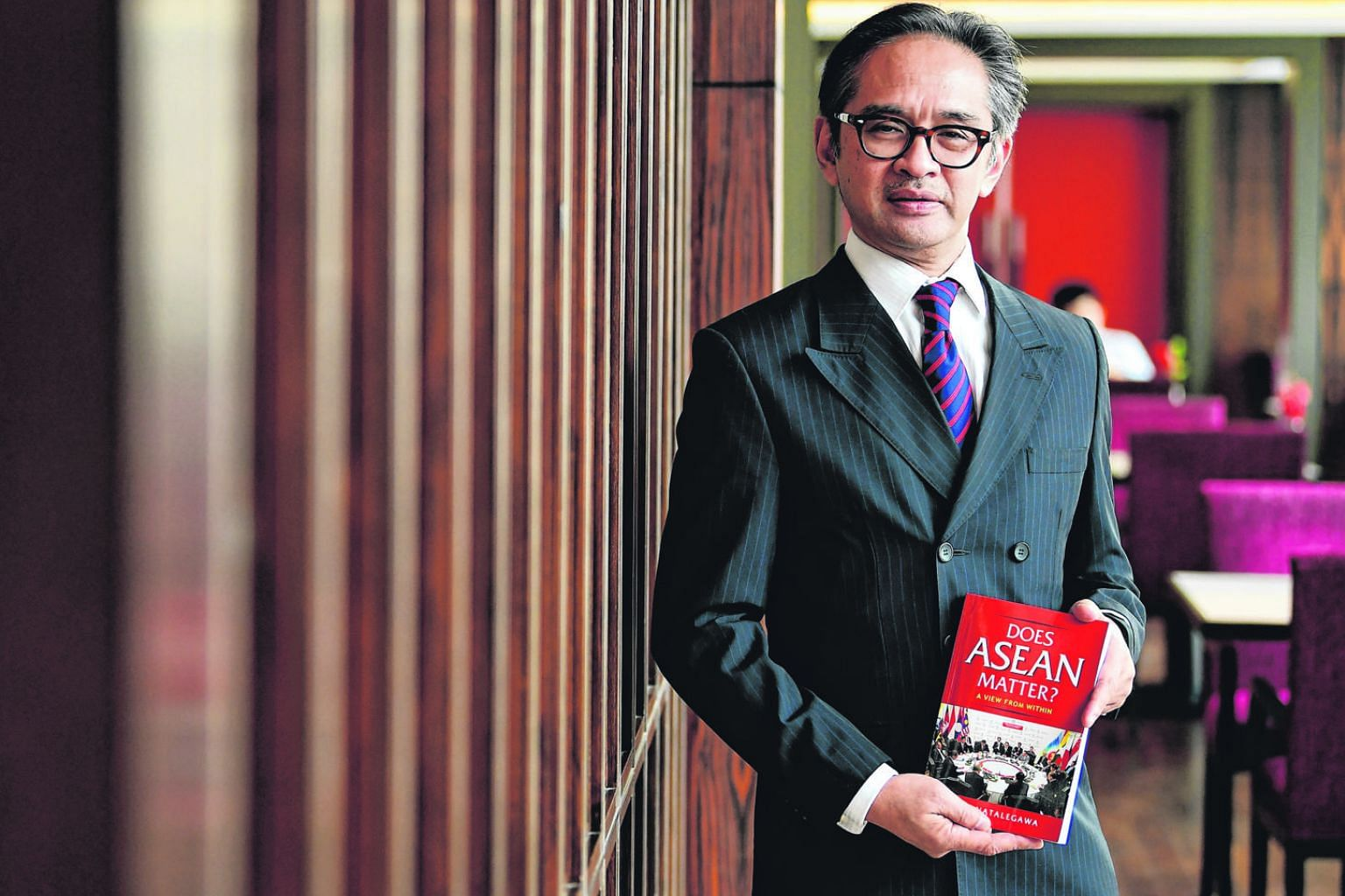 Dr Marty Natalegawa, former foreign minister of Indonesia, with his new book, Does ASEAN Matter?, which will be launched at ISEAS-Yusof Ishak Institute tomorrow.