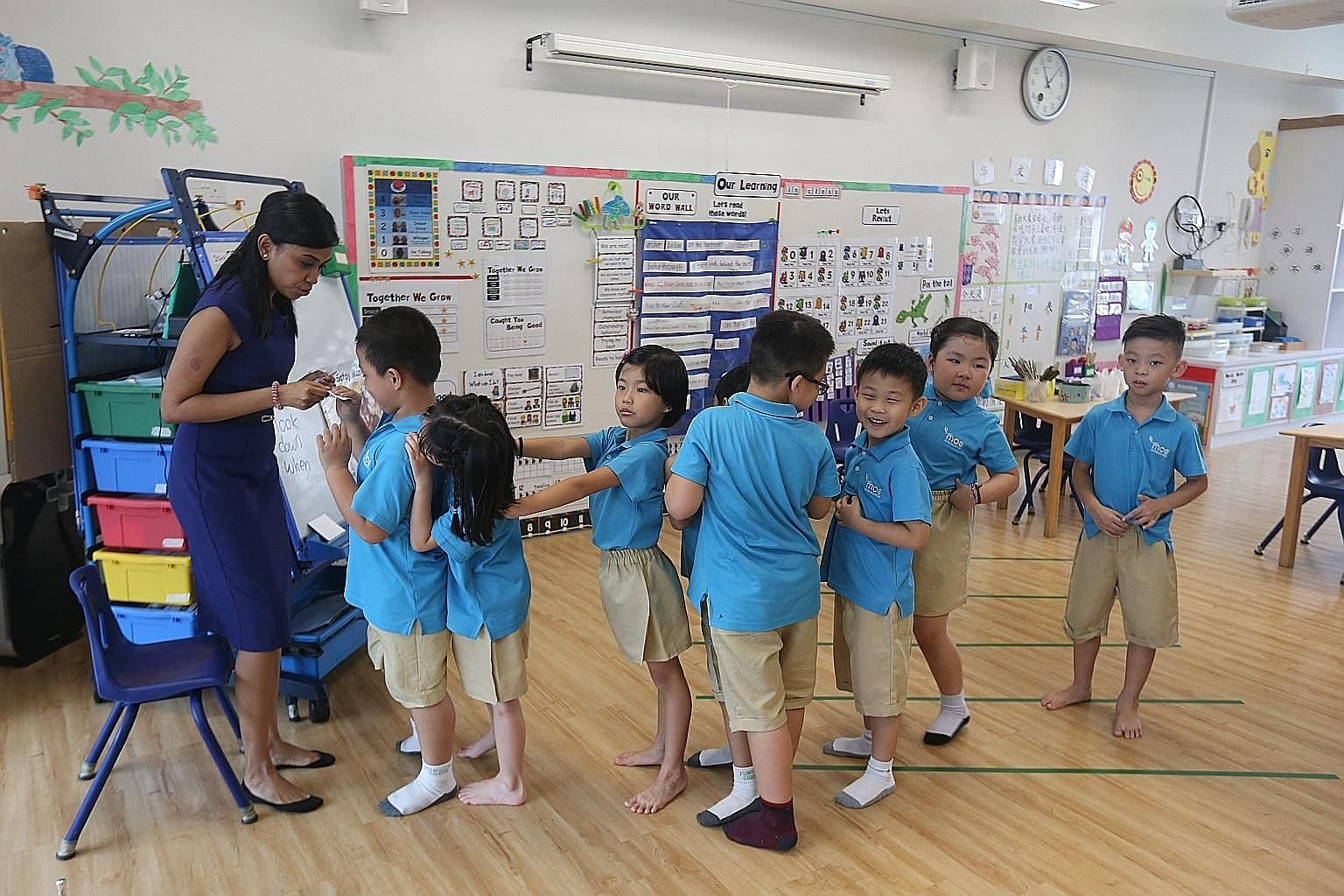 MOE kindergartens such as this in Punggol raise the quality of early childhood practices and offer affordable pre-school education.