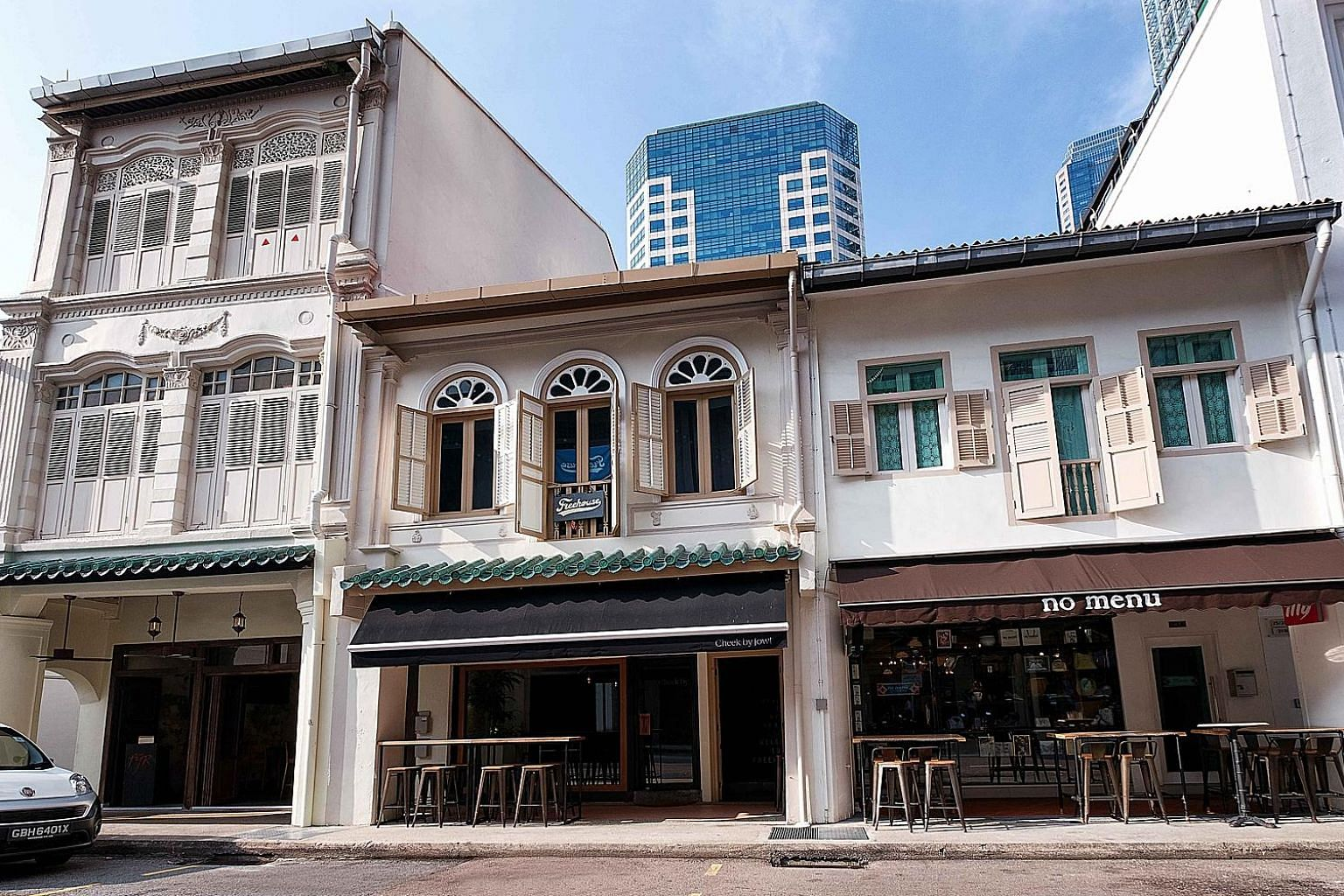 The shophouse in the Telok Ayer Conservation Area has permanent F&B approvals granted for both floors, and houses the Michelin-starred restaurant Cheek by Jowl.