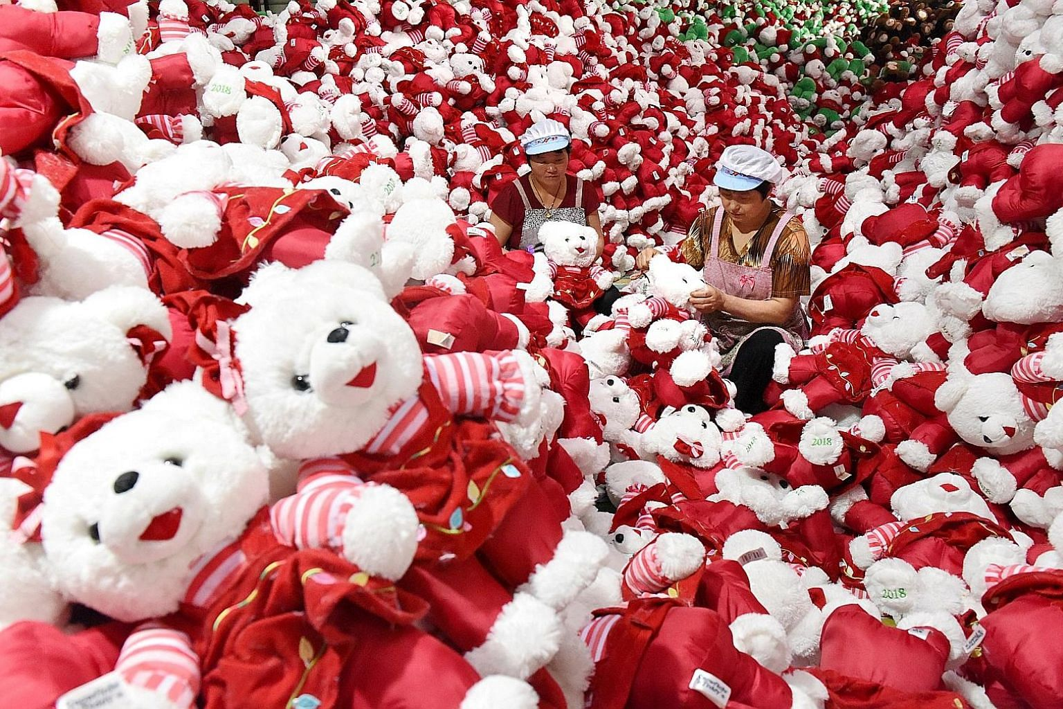 Chinese workers making stuffed toys for export. Asean countries, particularly Vietnam, Cambodia and Malaysia, will be among the biggest winners in the global supply chains in the event of a prolonged US-China trade war.