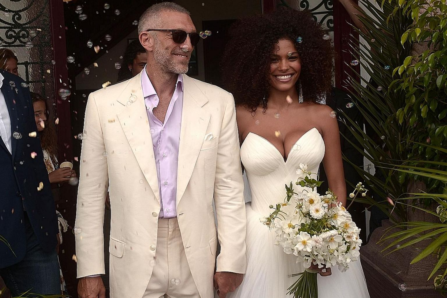 Vincent Cassel tied the knot with Tina Kunakey in south-western France.