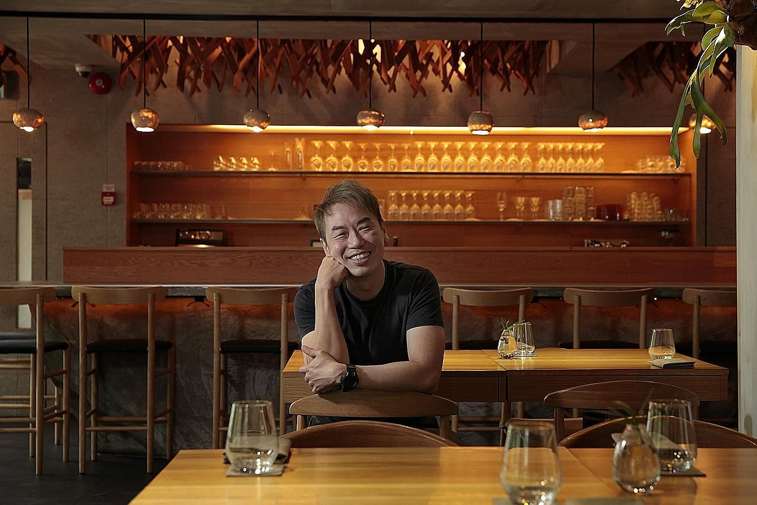 Chef Willin Low at Wild Rocket, which he opened in 2005 and is closing in October.