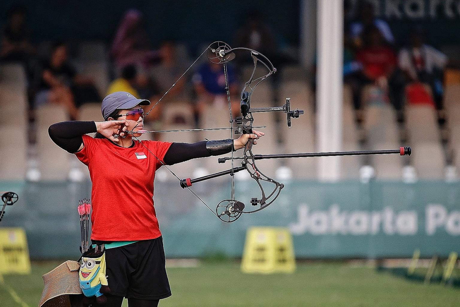 Contessa Loh, who scored two personal bests in the Compound Mixed Team event, Singapore's archery debut at the Asian Games. She and team-mate Alan Lee reached the semi-finals, upsetting 2017 SEA Games gold medallists Malaysia along the way.