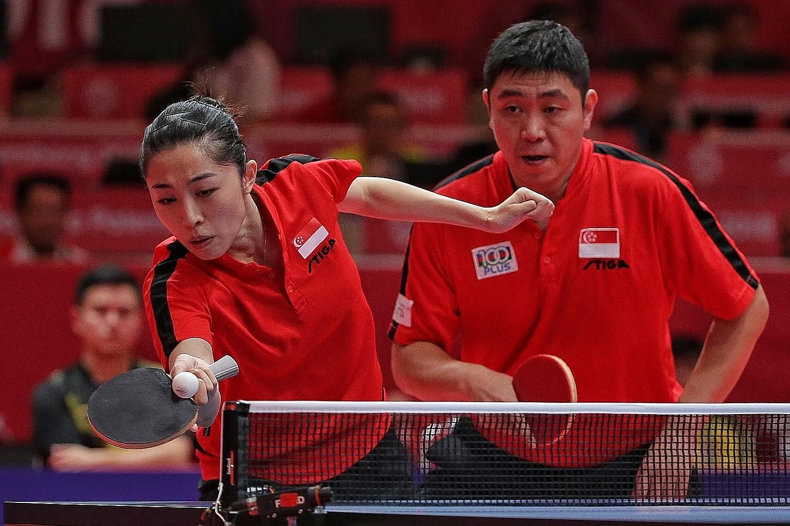 Mixed doubles pair Yu Mengyu and Gao Ning bowed out when they lost 11-9, 11-6, 11-4 to China's Wang Chuqin and Sun Yingsha in the quarter-finals.