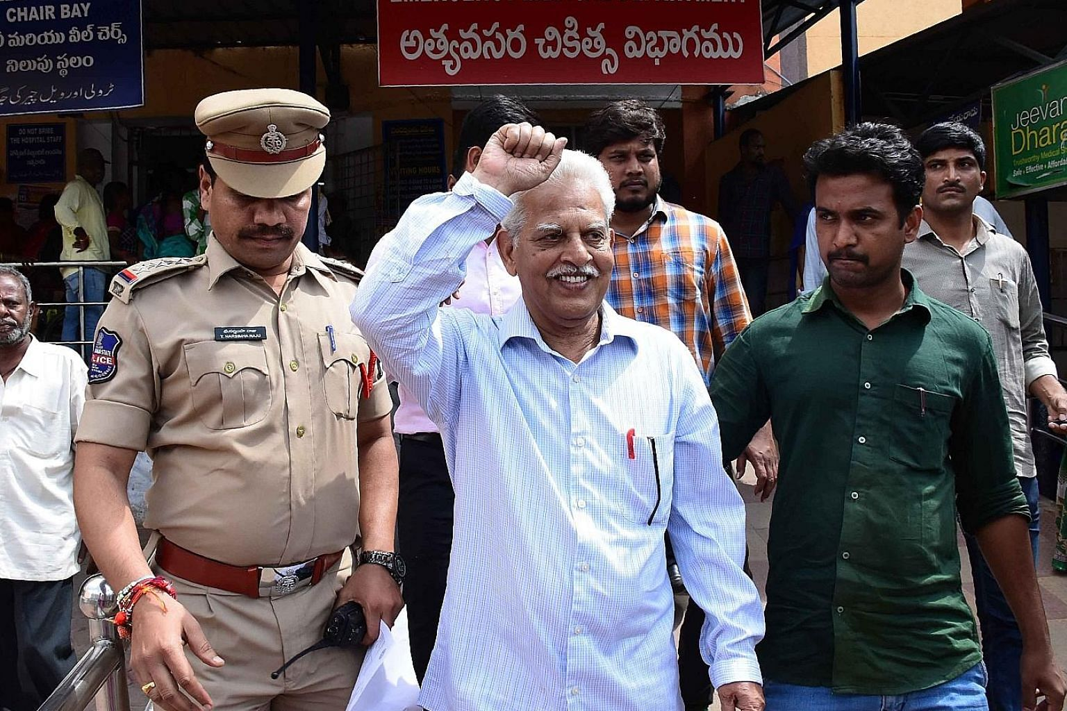 Communist writer and poet P. Varavara Rao, who was arrested on Tuesday in Hyderabad, India, was one of the five activists nabbed.