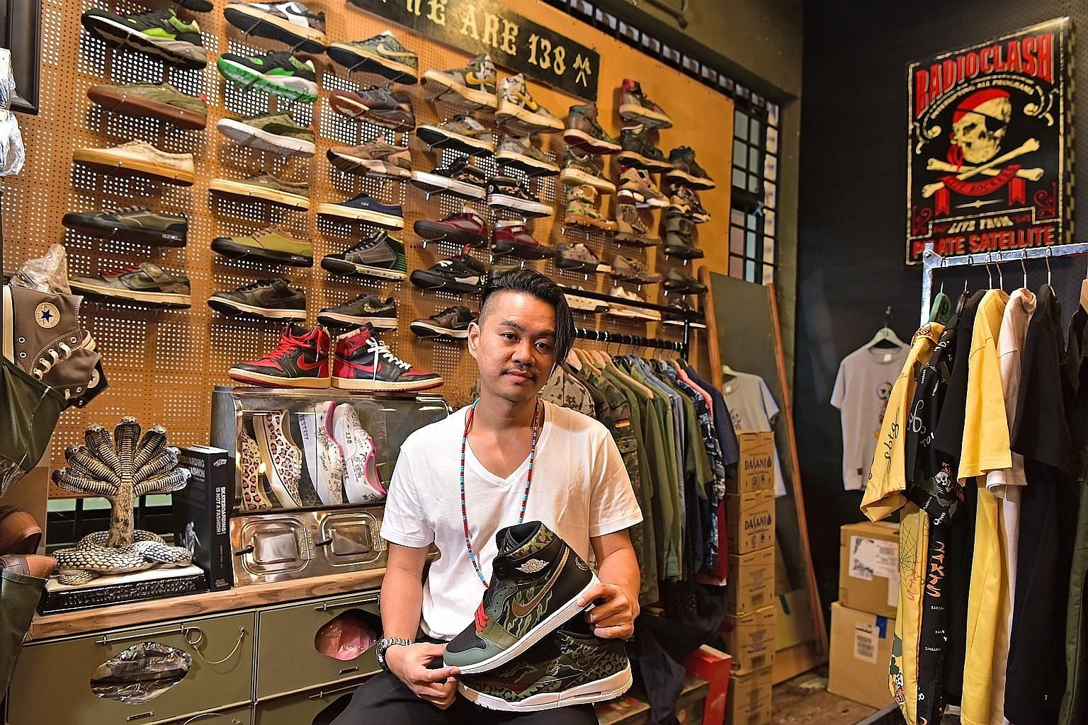 Visitors looking for good deals at last year's Sole Superior. This year's event will take place at Pasir Panjang Power Station from Oct 26 to Oct 28. Streetwear artist Mark Ong of sneaker label SBTG recommends knowing the history of what one is buyin