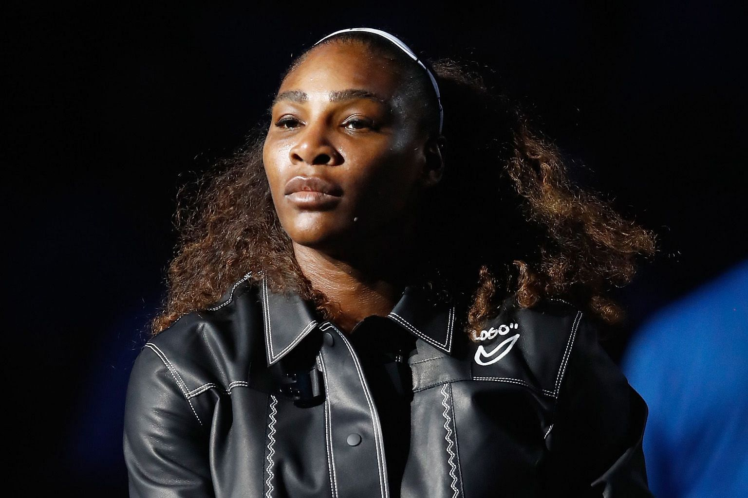 Serena Williams prior to her match against Carina Witthoft, which she won 6-2, 6-2 to set up a clash with Venus.