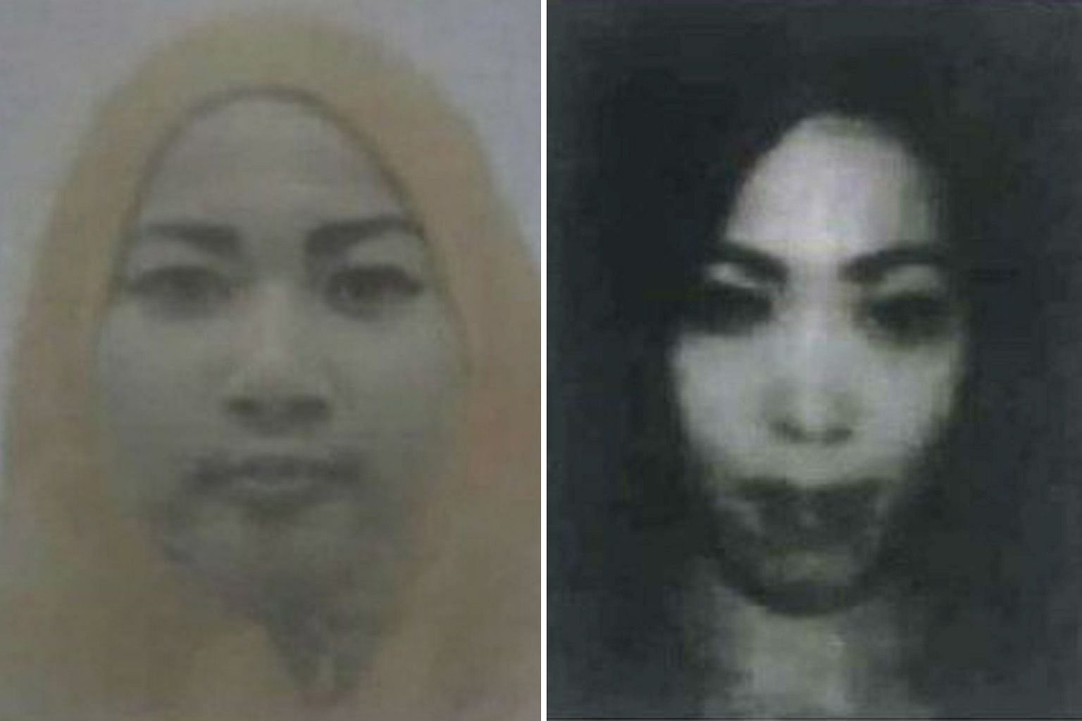Ms Raisa Rinda Salma (left) and Ms Dessy Meyrisinta, both Indonesians, cannot be contacted, say police.