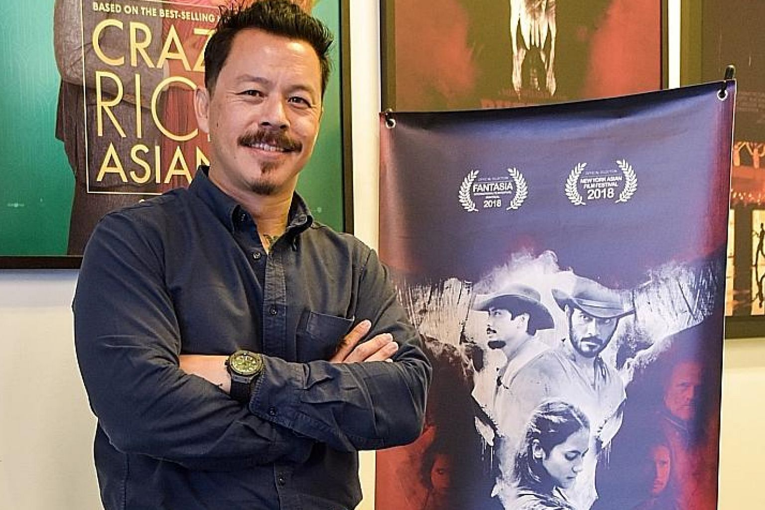 Buffalo Boys, a film set in 19th-century Java about two brothers seeking vengeance for their parents' death, is the directorial debut of Mike Wiluan (left), chief executive of media company Infinite Studios.