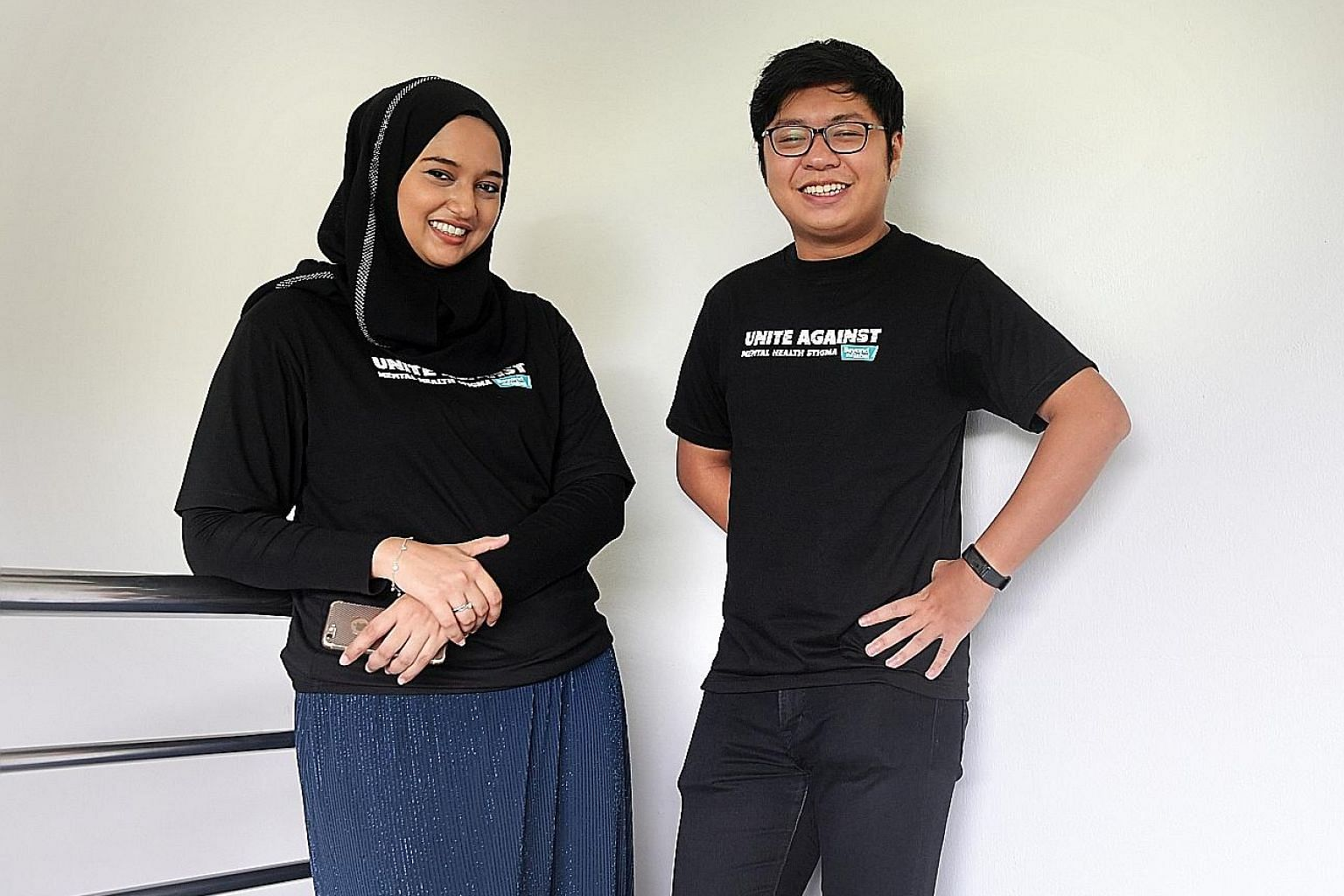 Ms Sumaiyah Mohamed and Mr Desmond Ng are well on their road to recovery, thanks to peer support. They are now envoys for the Beyond The Label campaign.