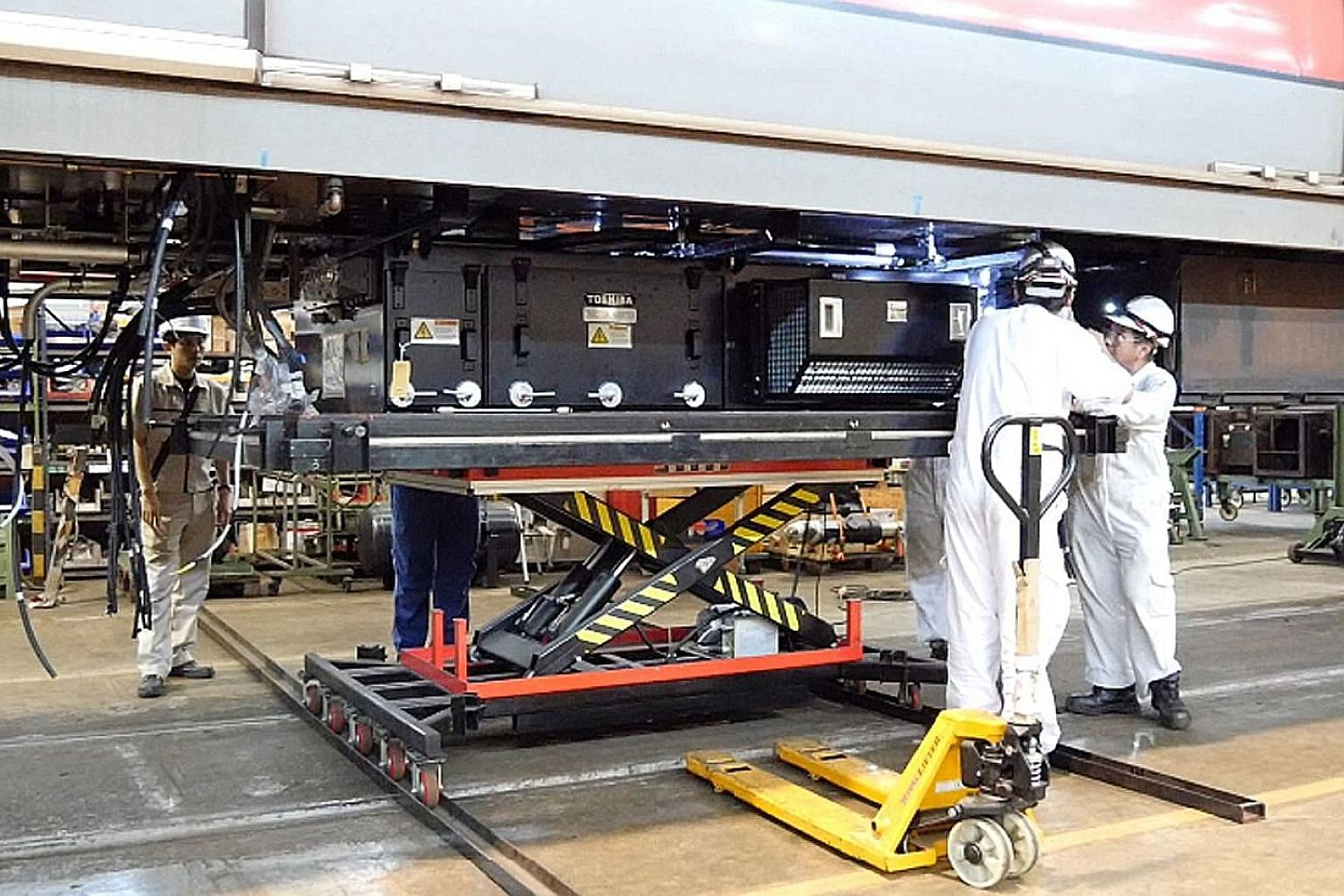 Singapore Rail Engineering had a joint venture with Japan's Toshiba to use and market its train motors.