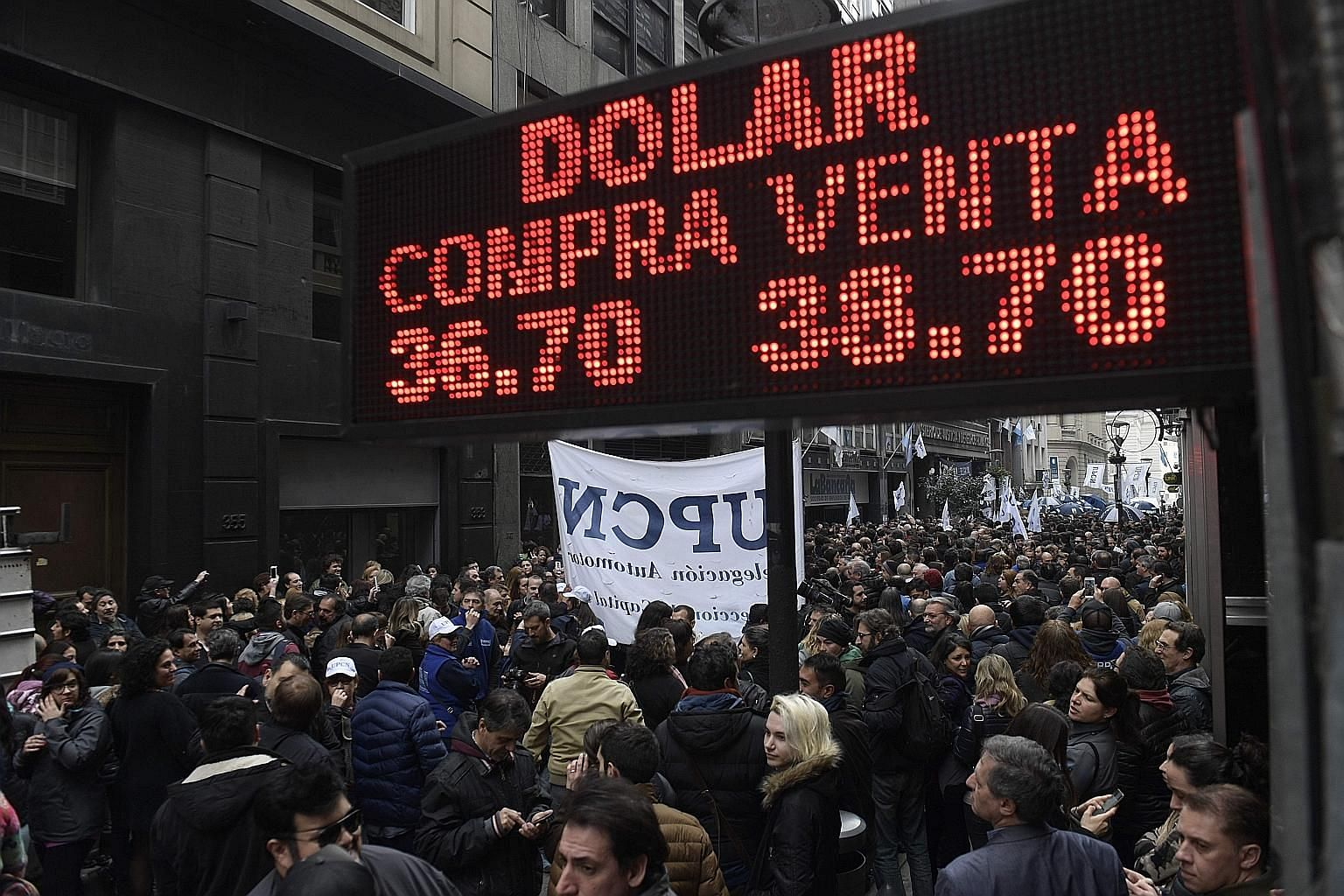 Argentina's external debt was considered relatively low until the peso's recent sharp depreciation, which spurred the government to request funds from the International Monetary Fund.