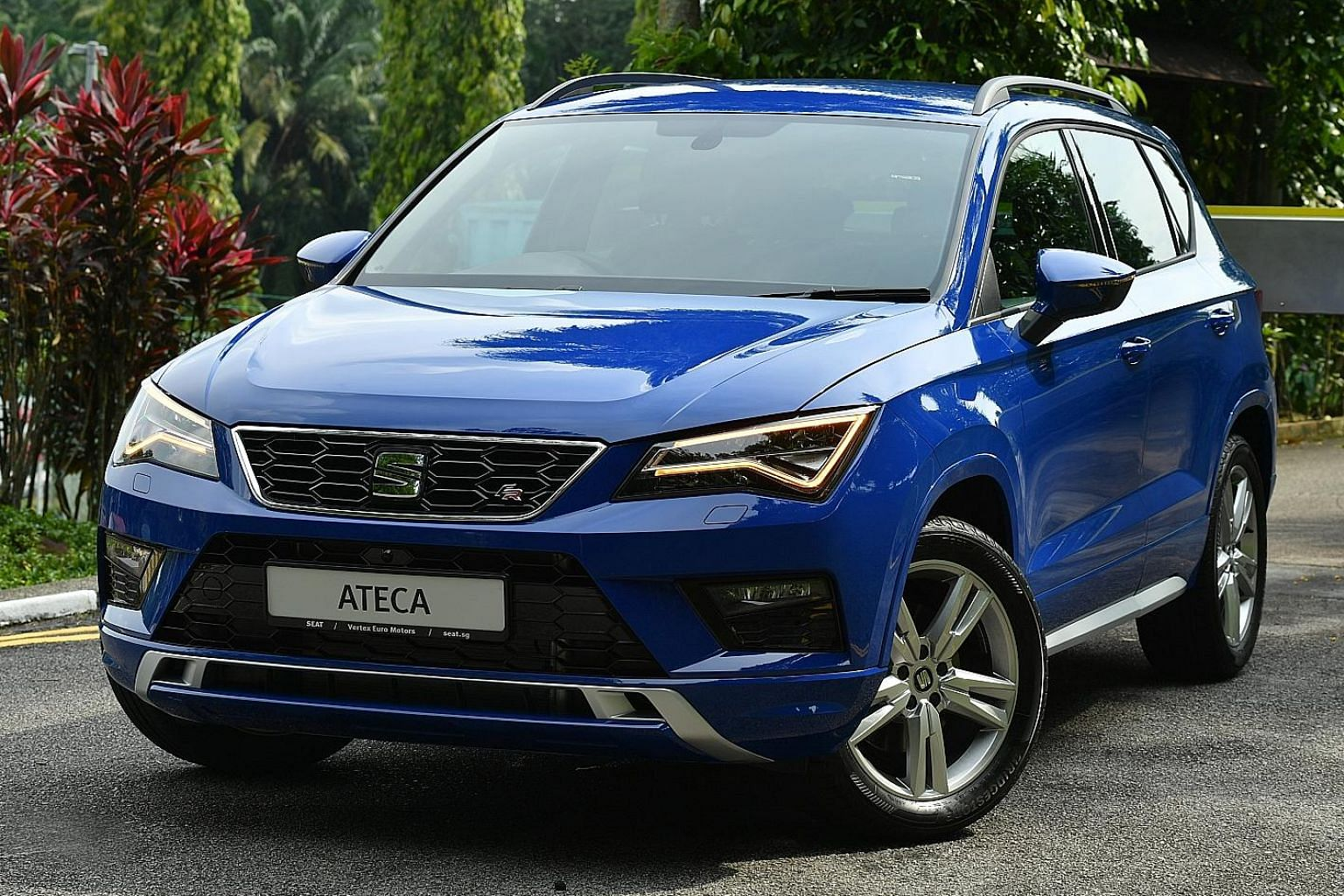 The Seat Ateca has a four-wheel-drive mode, which is unusual among compact crossovers on sale in Singapore.