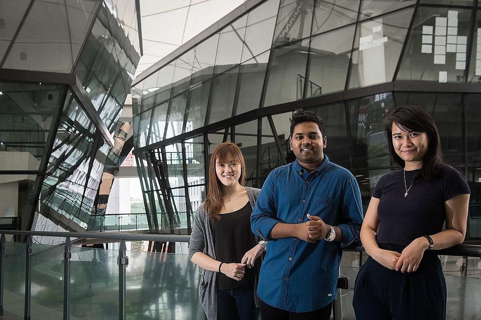 (From far left) Ms Michelle Ler was handpicked to be assistant musical director for the 2019 Australian touring production of Grease - The Arena Experience; Mr Eshan Denipitiya, who plays the piano and loves experimenting with styles and genres outsi