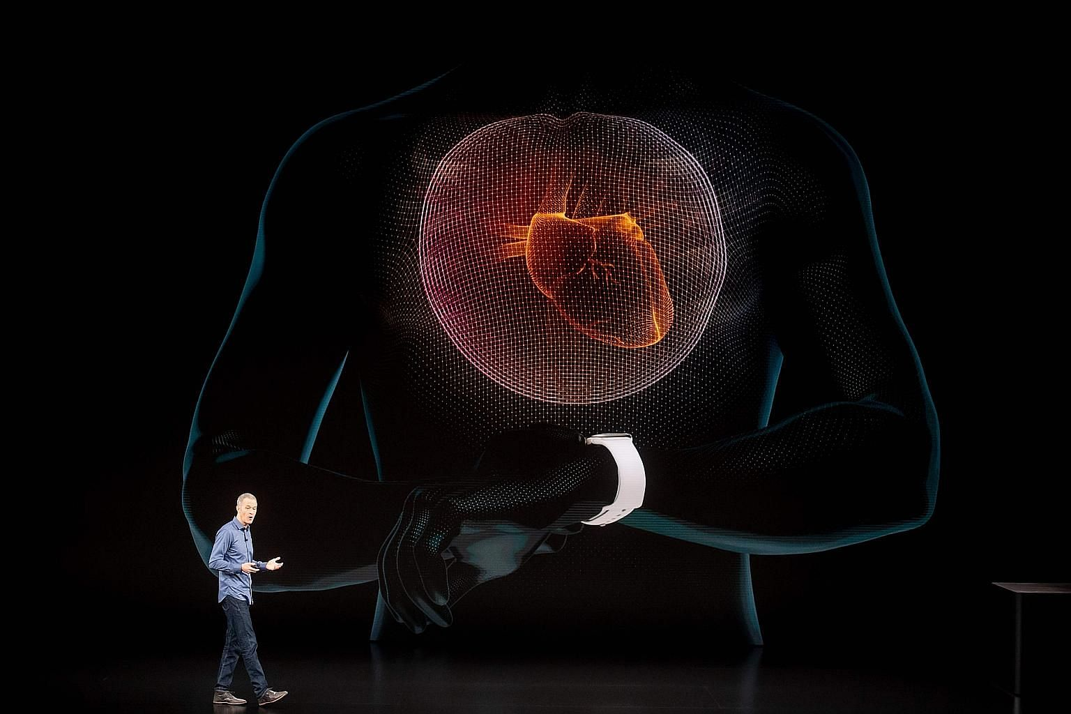 "Apple chief operating officer Jeff Williams (left), in presenting the new Apple Watch Series 4 (above) in California last week, said: ""The Apple Watch has become the intelligent guardian for your health."" The United States Food and Drug Administratio"