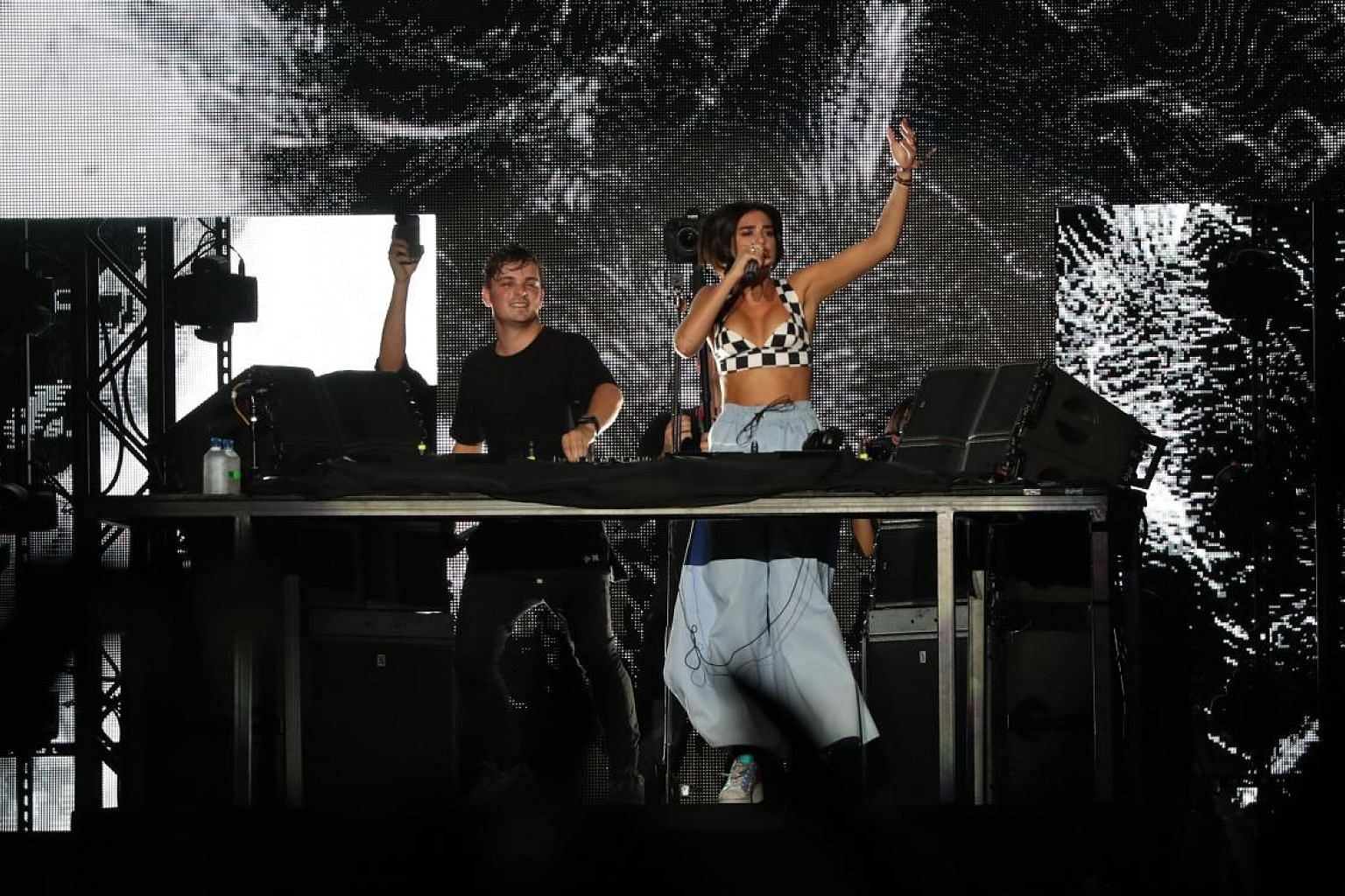 Dua Lipa and Martin Garrix (both above) wowed the crowd at the Padang on Sunday.