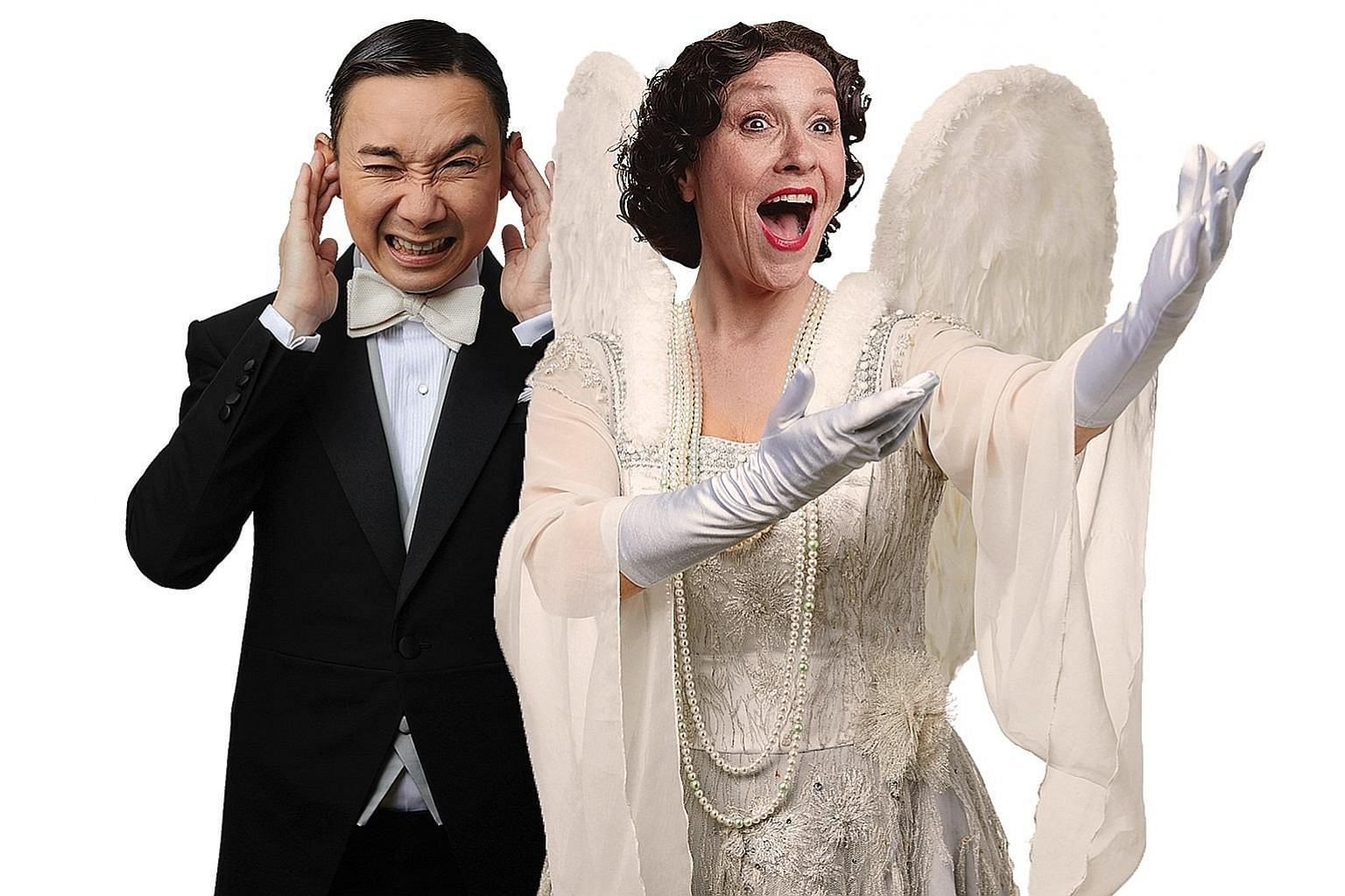 British actress Leigh McDonald plays New York socialite Florence Foster Jenkins, while home-grown actor Hossan Leong takes on the role of her accompanist, Cosme McMoon, in Souvenir.