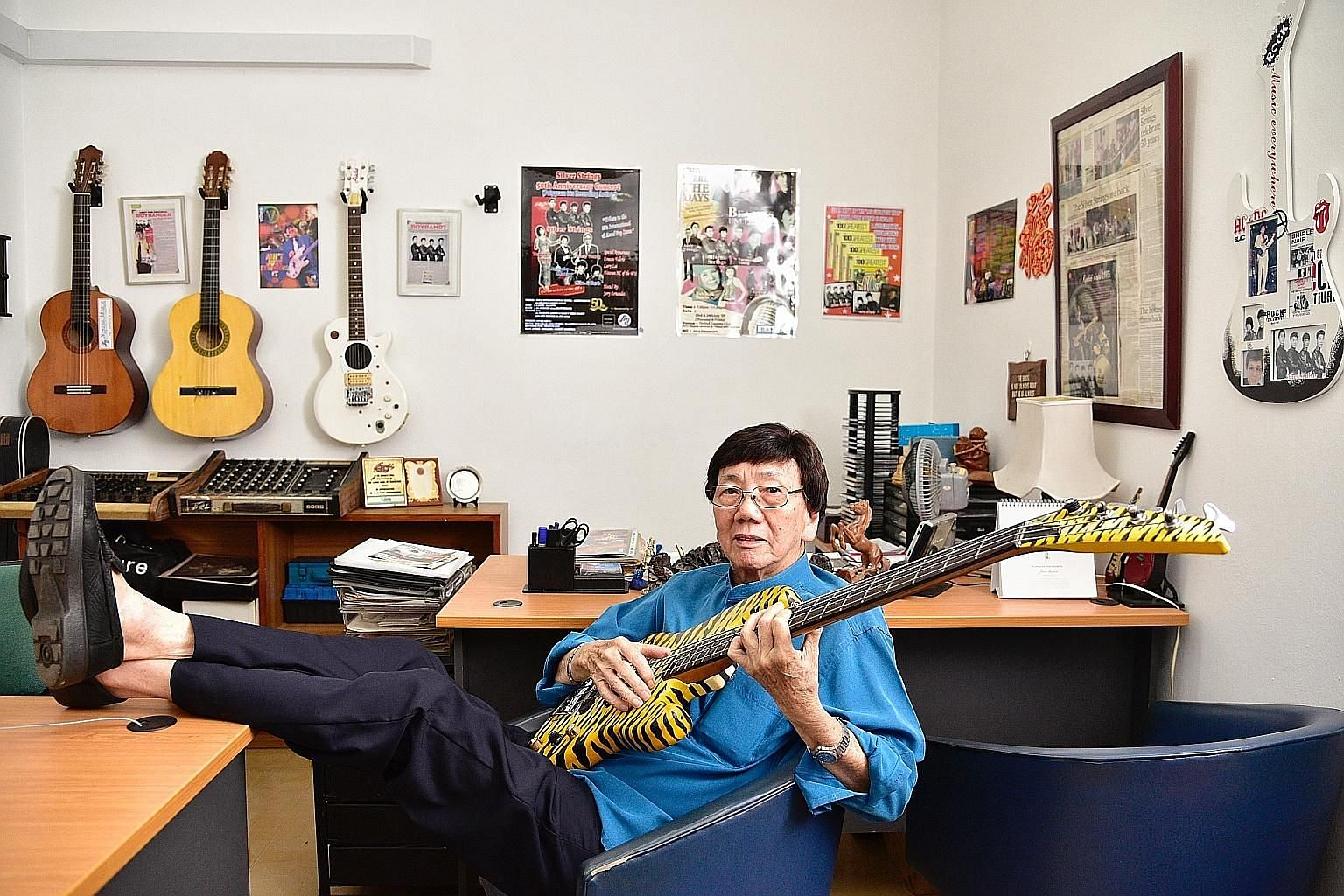 Being the opening act for The Rolling Stones in 1965 opened many doors for The Silver Strings. The Singapore band went on to record 12 original songs and also toured Malaysia. The Silver Strings was a big part of Mr Audie Ng's youth and will always b