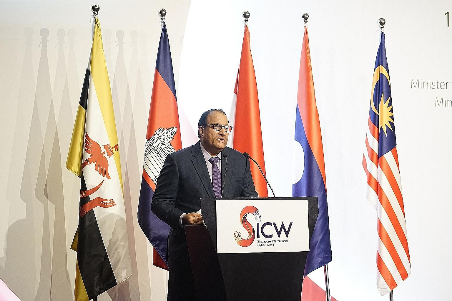Minister for Communications and Information S. Iswaran said at the Asean Ministerial Conference on Cybersecurity that the 10 Asean members have agreed on a rules-based approach to cyber security.