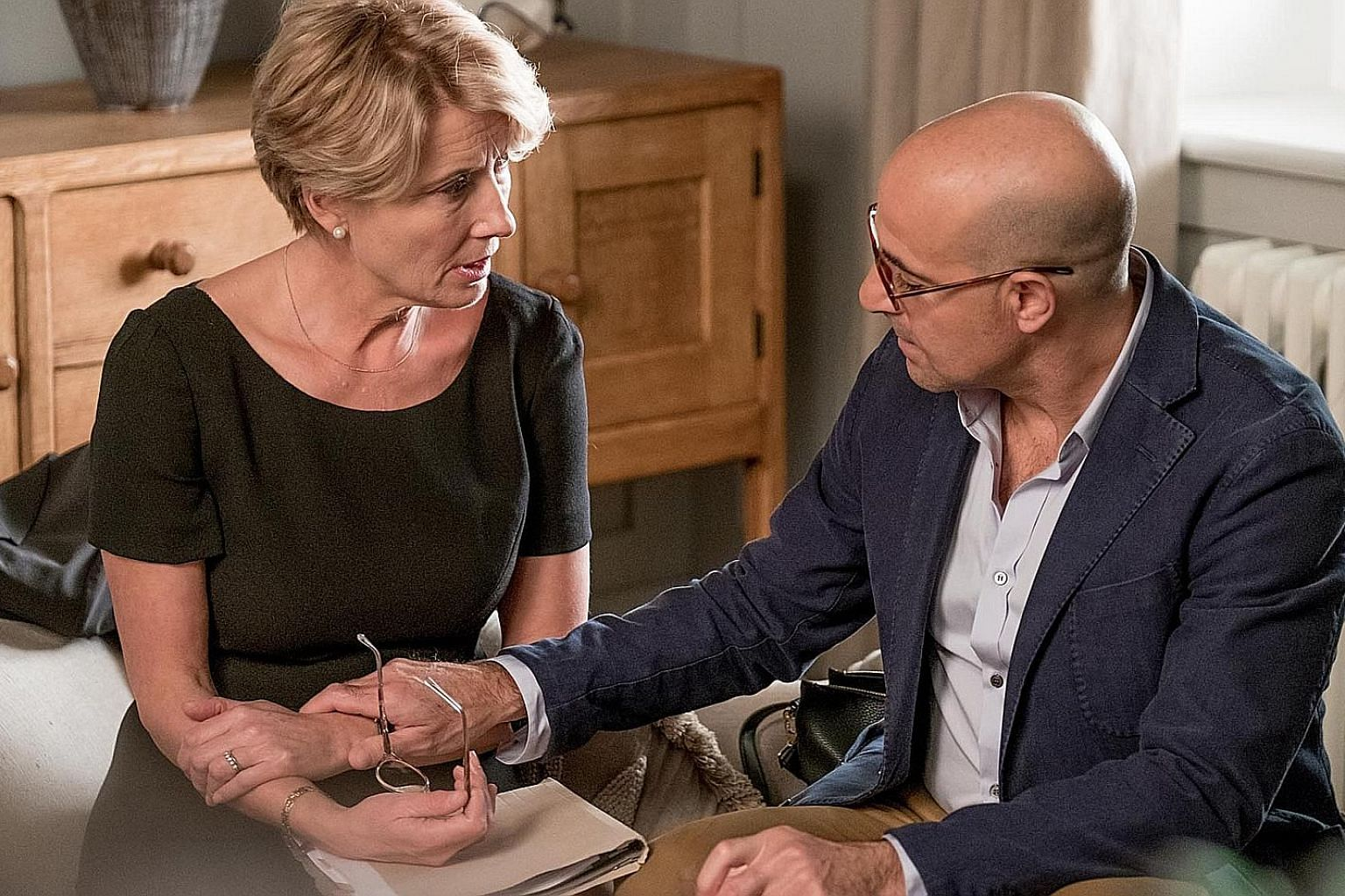 Emma Thompson and Stanley Tucci in The Children Act.