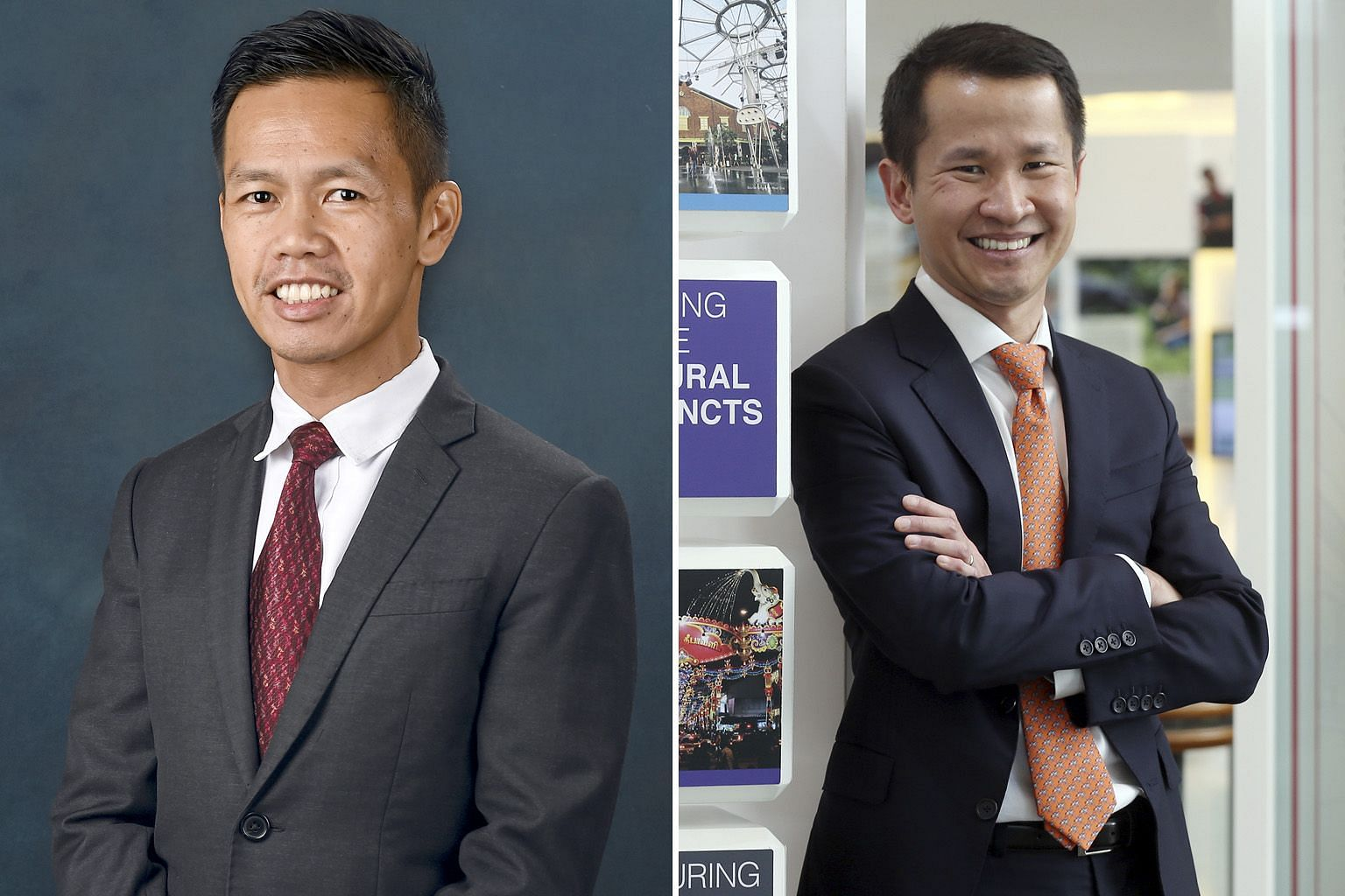 MrKeithTanKeanLoong (left) will become the Singapore Tourism Board's chief executive from Oct 29, while former STB chief Lionel Yeo has taken on a new role as Grab's CEO adviser.