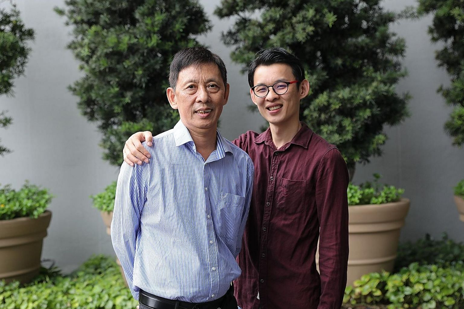 Mr Chen Yu Hui and his son Qingzhong are both recovering well, more than a year after the operation, and continue to go for follow-up medical checks. The elder Mr Chen has B positive blood while his son is A positive.
