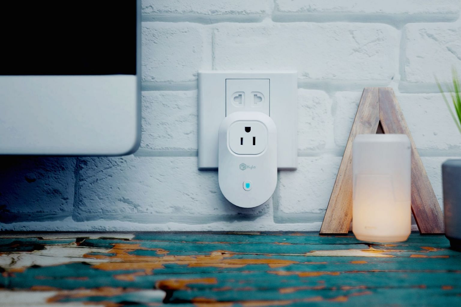 Control your home appliances remotely by plugging them into a Kyla smart Wi-Fi plug.