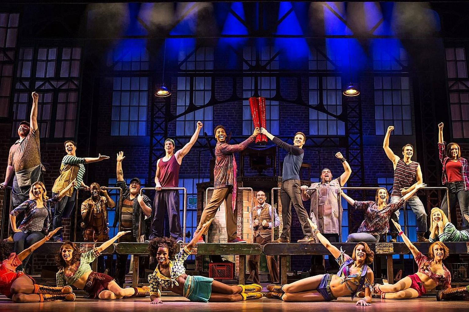 Broadway hit musical Kinky Boots features songs from 1980s music icon Cyndi Lauper. One of the main characters of the show is drag performer Lola (right) played by Jos N. Banks.