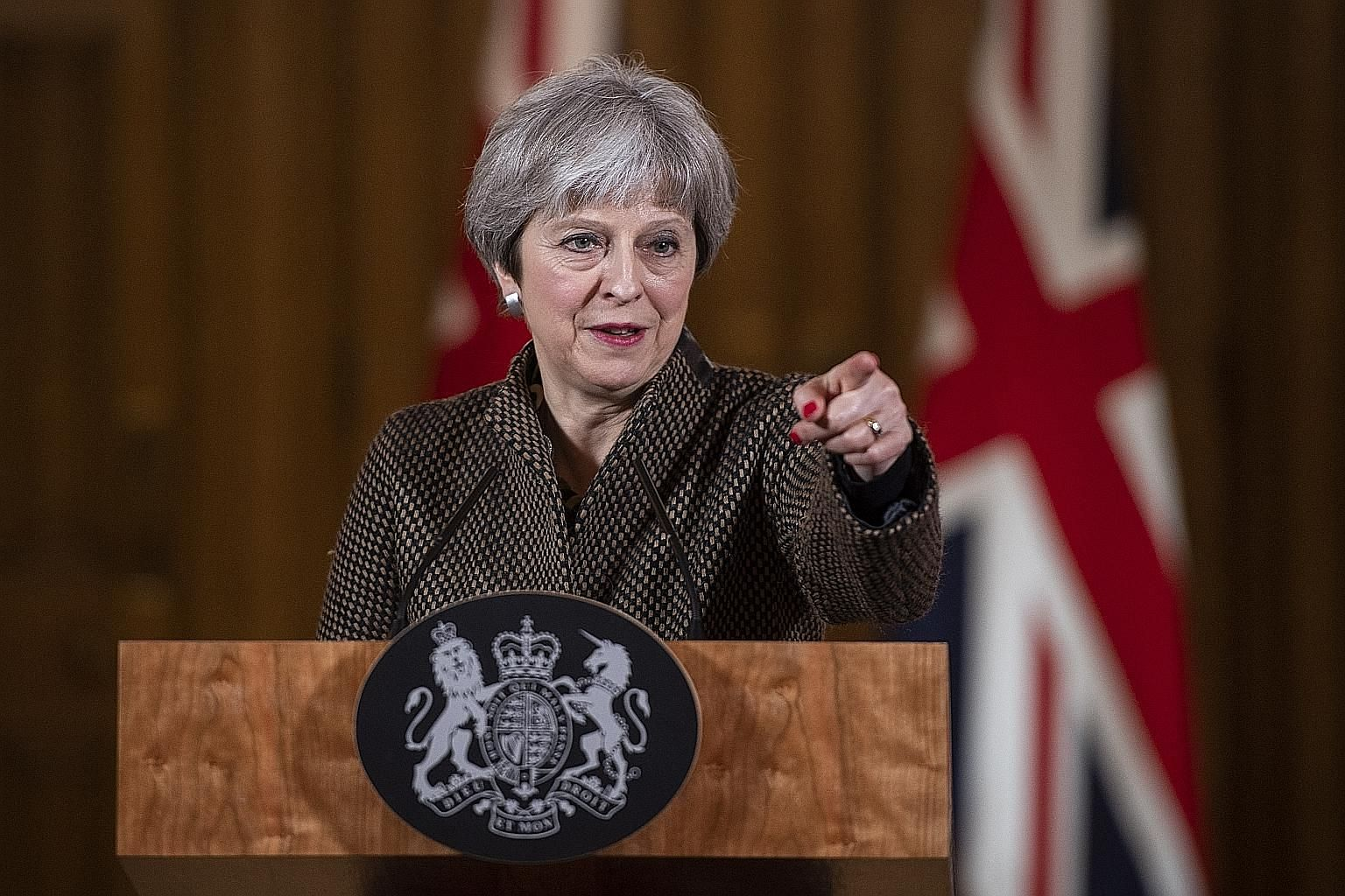 British Prime Minister Theresa May was headed into a potential showdown with her Cabinet yesterday.