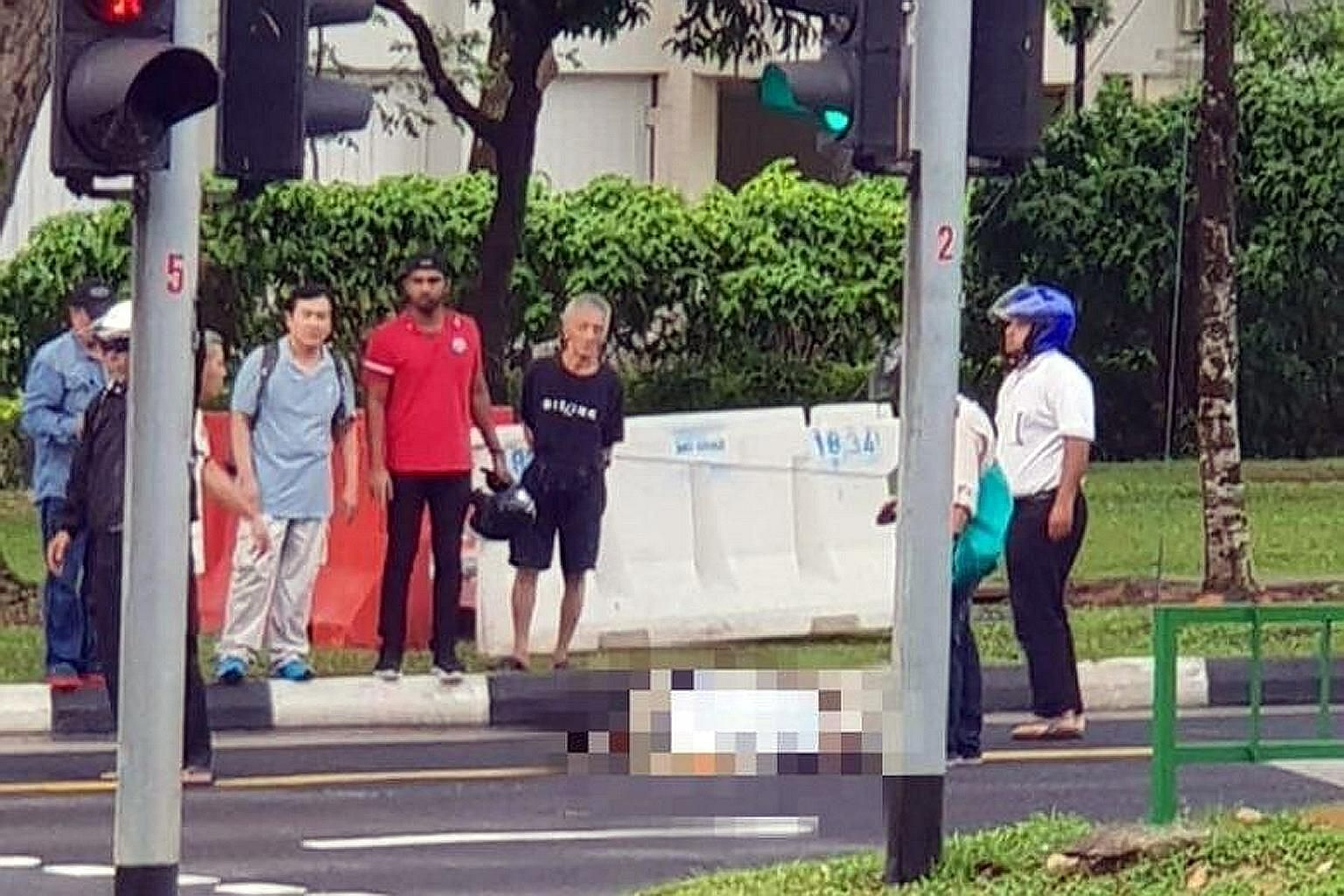 An 80-year-old man was crossing Woodlands Avenue 3 on Wednesday evening when he was hit by a minibus as it travelled towards Woodlands Avenue 5 at about 5.45pm.
