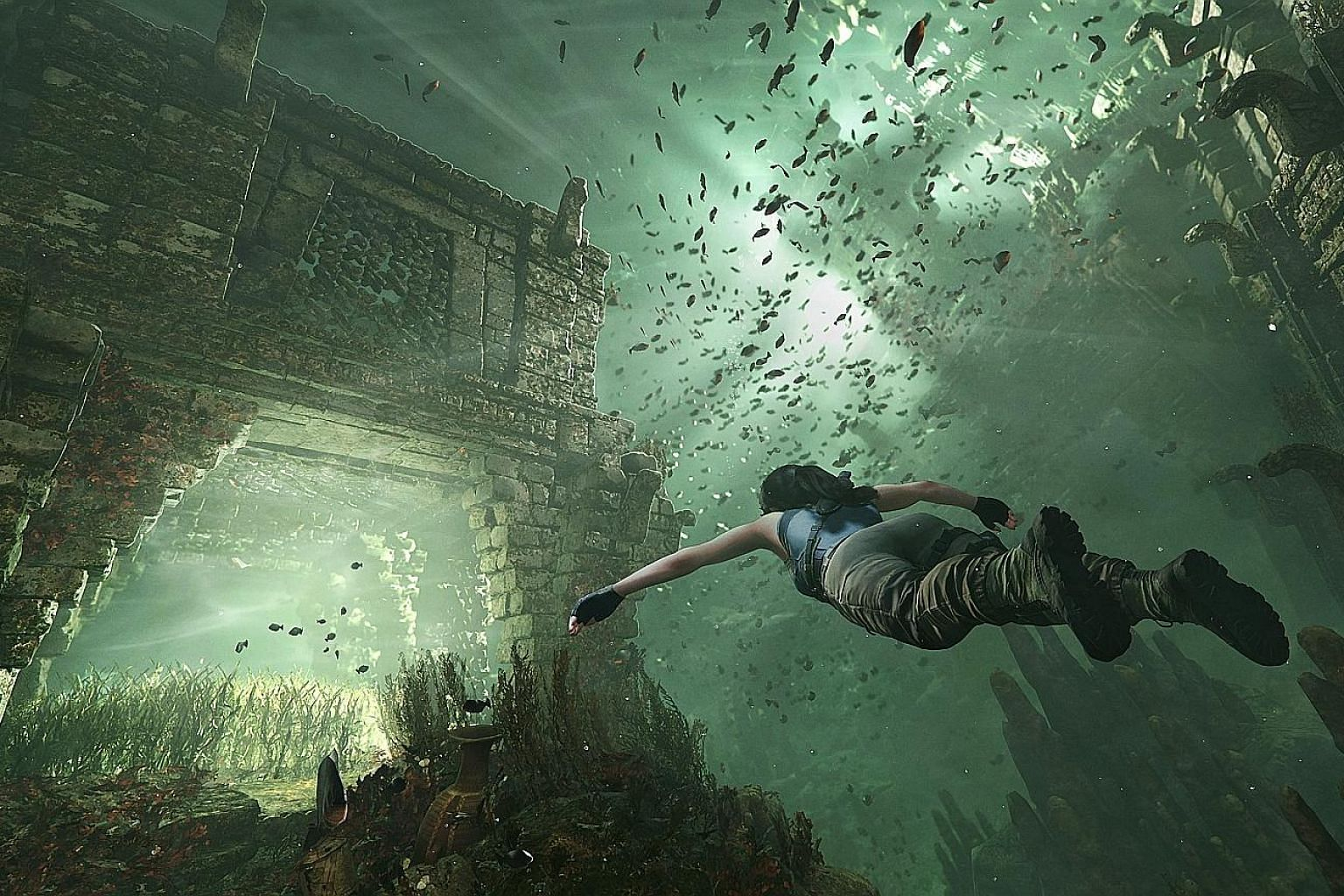 In Shadow Of The Tomb Raider, gamers can explore underwater tombs, among other things.