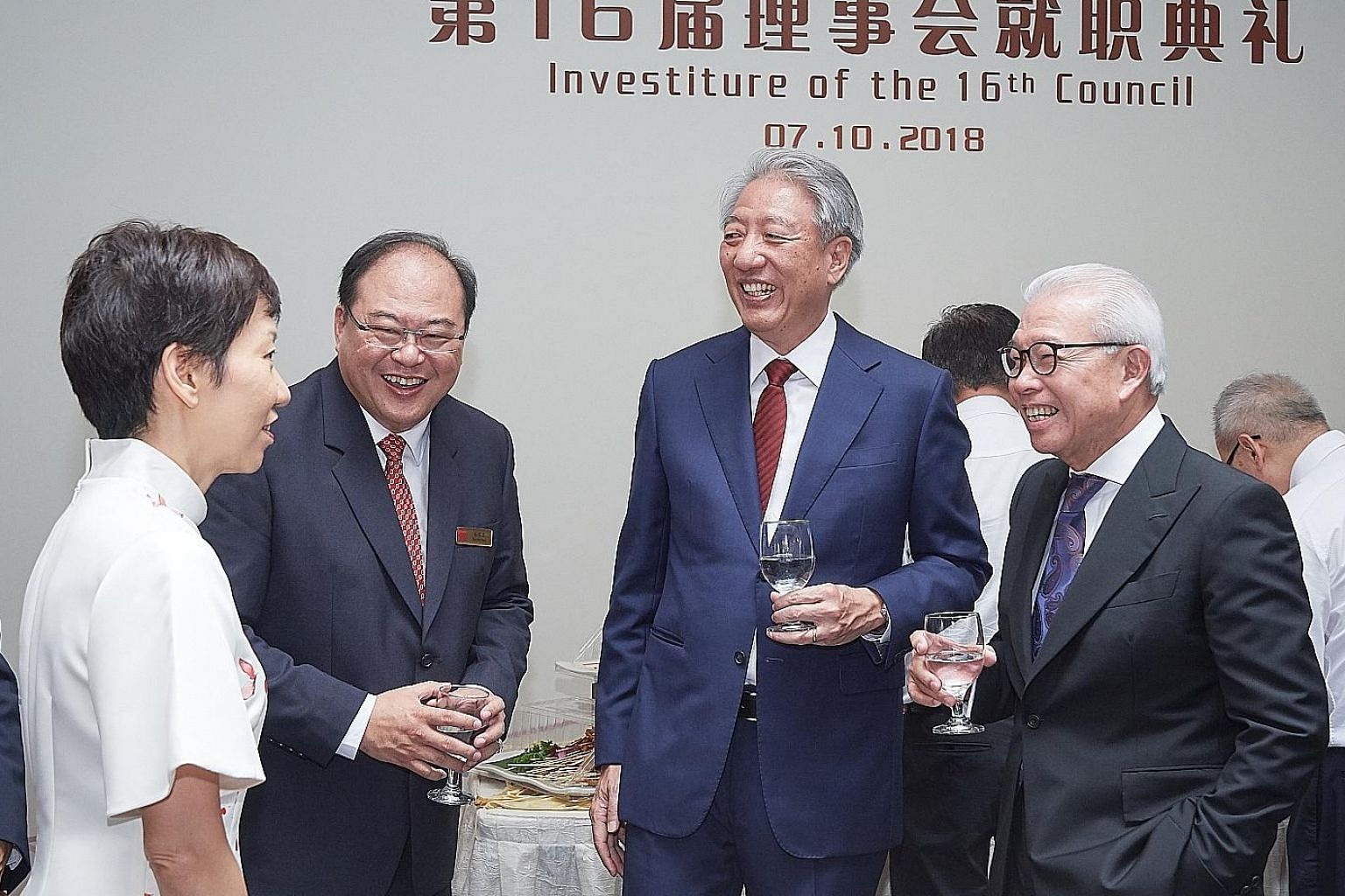 (From left) Culture, Community and Youth Minister Grace Fu, new SFCCA president Tan Aik Hock, DPM Teo Chee Hean and former SFCCA president Chua Thian Poh.