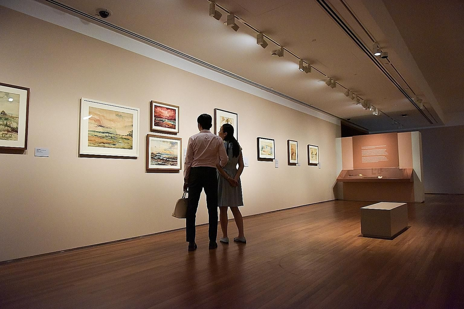 To better engage audiences, the National Gallery Singapore has started feedback surveys for its shows, such as the ongoing Lim Cheng Hoe: Painting Singapore display (above), and theatre group The Necessary Stage has put its archives online (left).