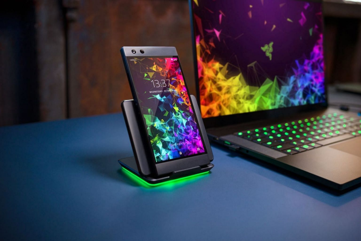 The new Razer Phone 2 adds flagship features such as wireless charging and waterproofing, while maintaining its gaming roots with a 120Hz display and dual front-facing speakers.